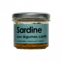 Sardine aux légumes confits