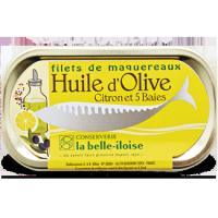 Filets de Maquereaux à l'Huile d'Olive, Citron et 5 Baies