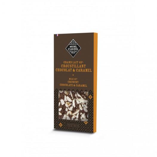Chocolat Grand Lait 45% Croustillant Chocolat et Caramel