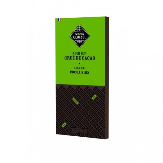 Chocolat Noir 63% Grué de Cacao