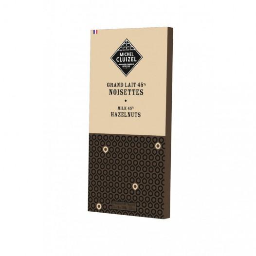 Chocolat Grand Lait 45% aux Noisettes