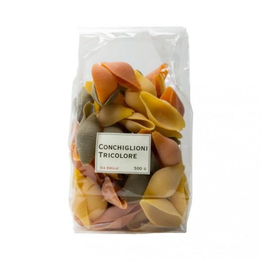 Pâtes Conchiglioni Tricolores