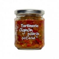 Tartinerie Oignon, Poivron et Pistache