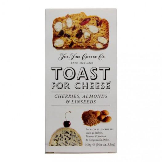 Toast pour Fromage Cerises, Amandes et Graines de Lin