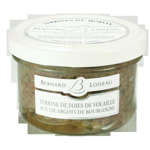 Terrine de Foies de Volaille aux Escargots de Bourgogne