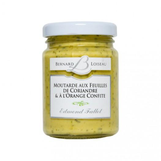 Moutarde aux Feuilles de Coriandre et à l'Orange Confite